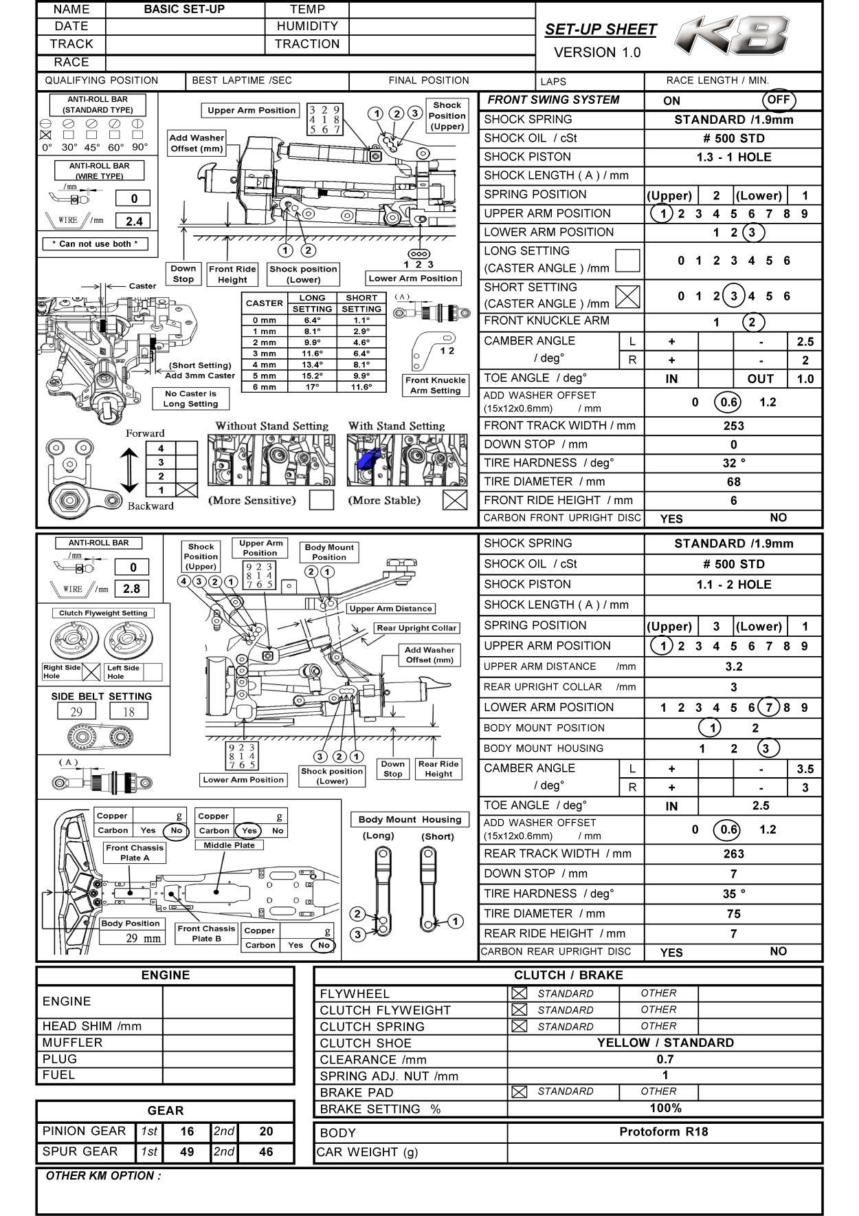 H-K1 Setting Sheet and Instruction Manual « KM Group